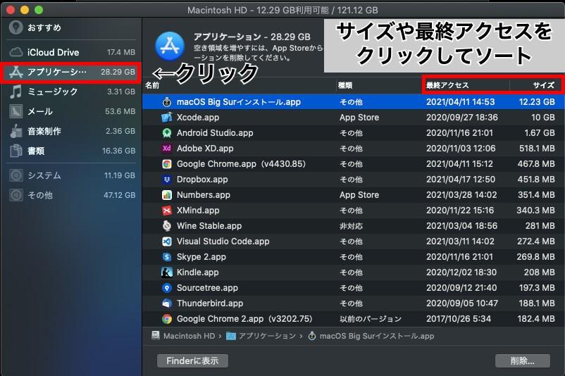 macの容量を増やす方法3.不要なアプリを削除しよう